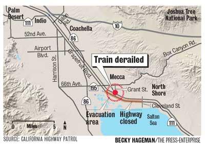 Another Train Derailment At Mecca California